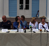 Press-conference in the M.I. Glinka's estate